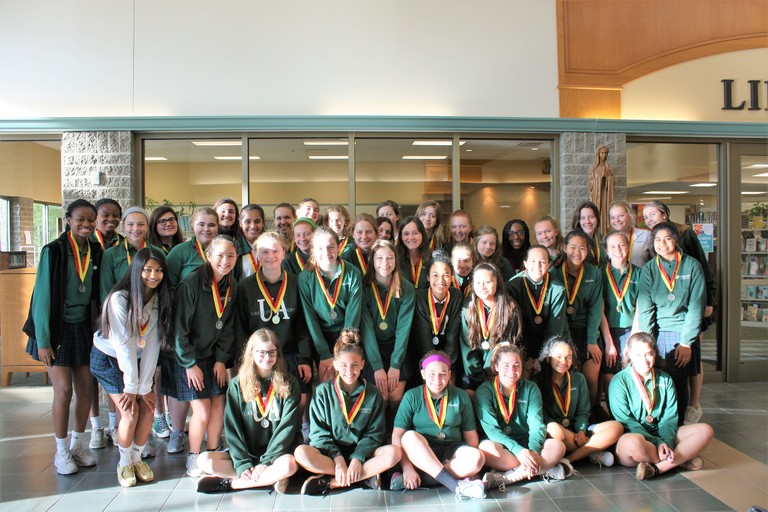 Forty three Ursuline students recognized for high scores on National Spanish Exam