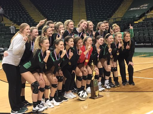 Volleyball Back to Back State Champions