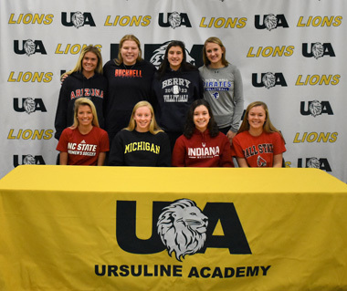 Eight Ursuline Academy Students Commit to Play Collegiate Athletics